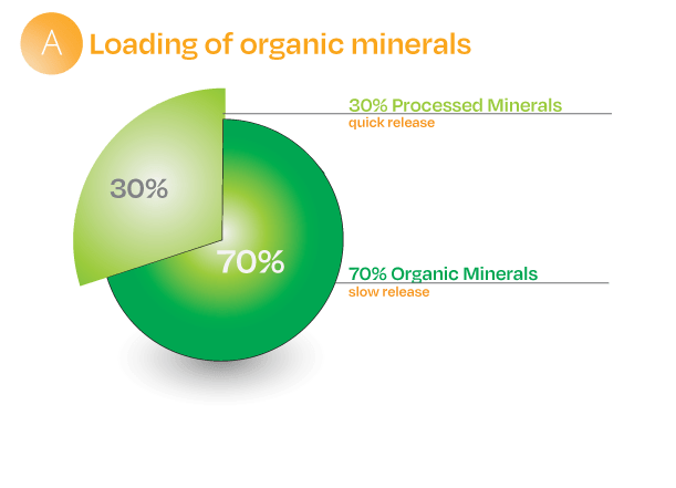 Balance organic and synthetic mineral fertilizer for a better way to grow