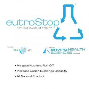 Soil and water nutrient filter media, Eutrostop permeable reactive barrier zeolite enviro health products