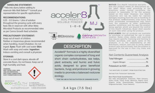 Acceler8 MJ | Soil Prebiotic Soluble Powder from Eco Health Industries