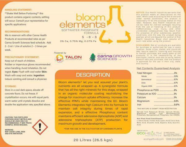 Bloom Elements Softwater Phosphate Formula from Eco Health Industries