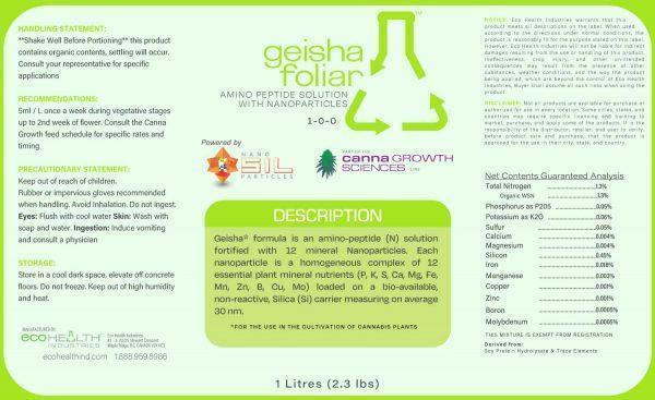 Geisha | Amino Peptide Foliar Spray from Eco Health Industries