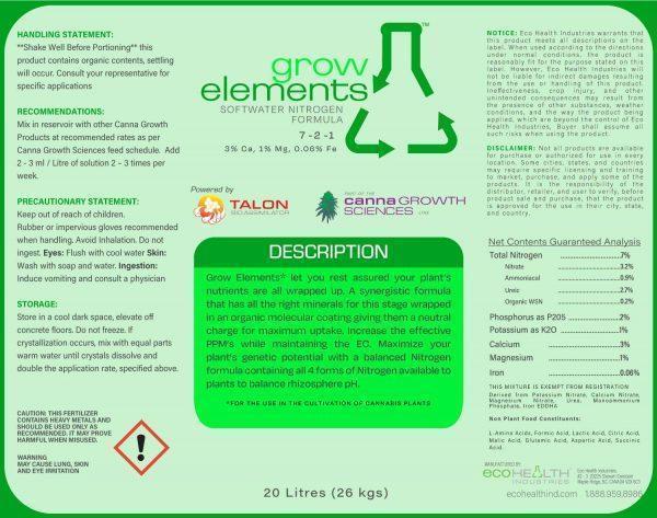 Grow Elements | Soft Water Nitrogen Balancer from Eco Health