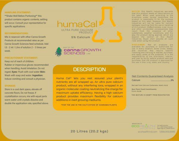 Huma Cal   Calcium Supplement from Eco Health Industries