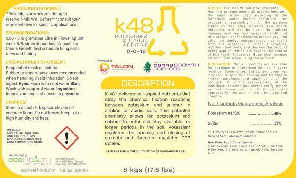 K 48 | Potassium and Sulphur Additive from Eco Health Industries