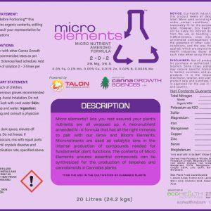 Micro Elements |Micronutrient Amended Formula from Eco Health