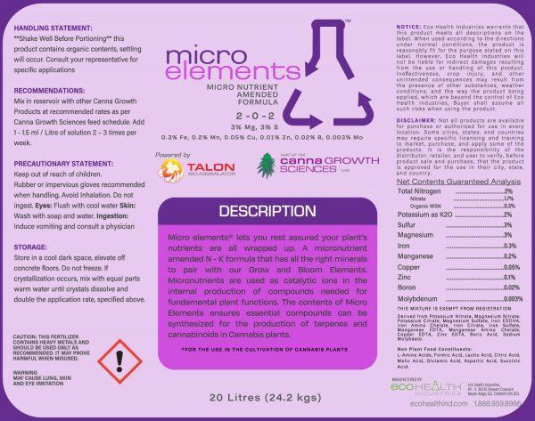 Micro Elements  Micronutrient Amended Formula from Eco Health