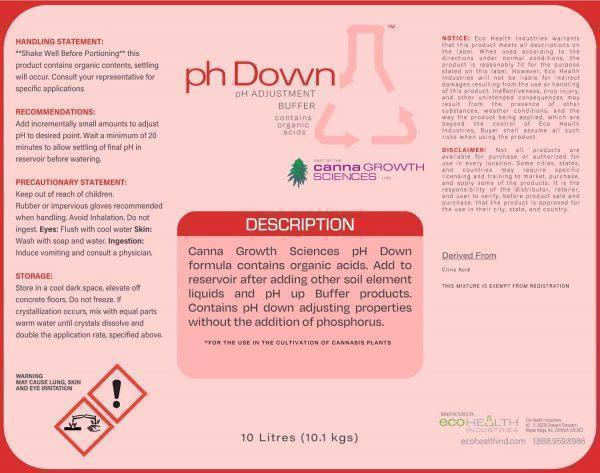 pH DOWN | PH Adjustment Buffer from Eco Health Industries