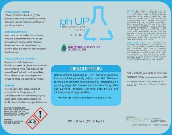 pH UP | PH Adjustment Buffer from Eco Health Industries
