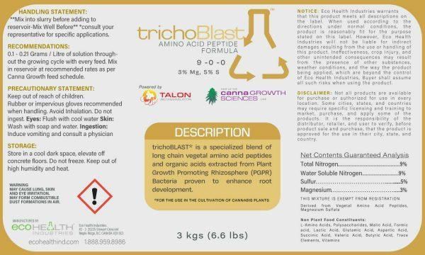 TrichoBlast | Amino Acid Peptide Formula for root growth - Eco Health Industries